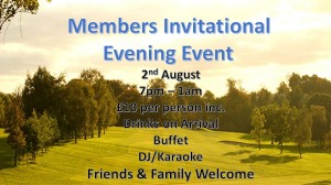 1.5 member invitational evening event