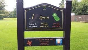 Hole Sponsor Board