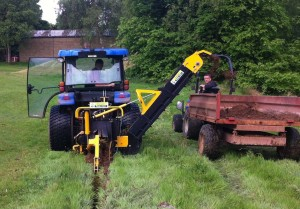 Drainage work carried out with new Trencher at the 1st