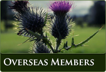 Overseas Membership - image of a thistle taken on our course